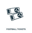 football tickets icon mobile apps printing and vector image