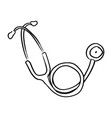 freehand stethoscope sketch hand vector image vector image