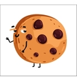 Funny chocolate chip cookie cartoon character vector image vector image
