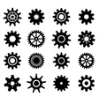 Gear cogs wheels icons set vector image vector image