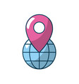 global earth planet with location symbol vector image vector image