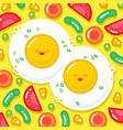 good morning breakfast kawaii vector image