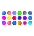 gradient color circles abstract watercolor paint vector image