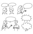 graphic people talking vector image vector image