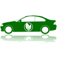 Green car vector image vector image