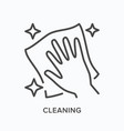 hand cleaning icon outline vector image vector image