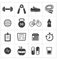 healthy and fitness icon vector image