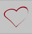heart sign brush style vector image vector image