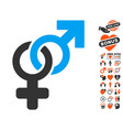 heterosexual symbol icon with dating bonus vector image