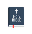 holy bible logo icon church bible isolated vector image vector image