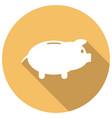 icon money bag on long shadow vector image vector image