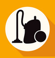 icon vacuum cleaner on white circle with a long vector image vector image