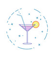 image of a cocktail on a white background in a vector image