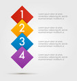 infographics step by step in a series of squares vector image