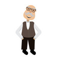 isolated grandfhater icon vector image vector image