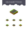 isometric way set of unilateral driveway footer