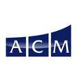 letter a c m modern vector image vector image