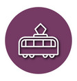 line icon of tram with shadow eps 10 vector image