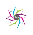 logo shop vector image