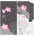 lotus flower card vector image vector image