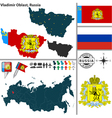 Map of Oblast of Vladimir vector image