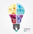 Modern Design info graphic light bulb template vector image vector image