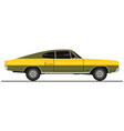 muscle car vector image