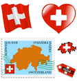 national colours of Switzerland vector image vector image