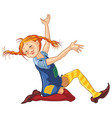 Pippi longstocking cartoon vector image