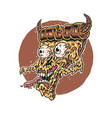 pizza monster vector image