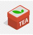 red tea box isometric icon vector image