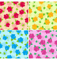 rose with green leaves seamless pattern set vector image vector image