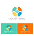 round colorful geometry logo vector image vector image