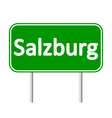 Salzburg road sign vector image vector image