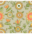 seamless floral pattern decorative background vector image vector image