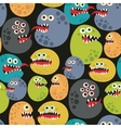 Seamless pattern with colorful virus monsters vector image