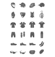 Set of icons sports accessories and clothes vector image