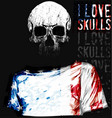 skull t shirt graphic design vector image