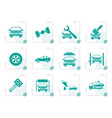 stylized auto service and transportation icons vector image vector image