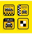Taxi - set labels square on the yellow background vector image vector image