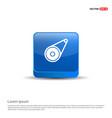 timing belt - 3d blue button vector image