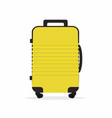 travel suitcase isolated on white vector image