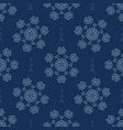 winter snowflakes texture seamless pattern vector image vector image
