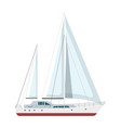yacht sailboat or sailing ship vector image