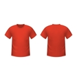 Realistic red t-shirt vector image