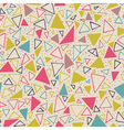 Geometric pattern with triangles and dots vector image