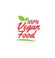 100 vegan food hand written word text for vector image vector image