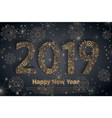 2018 happy new year holiday banner with vector image