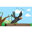 a bird in nature vector image vector image
