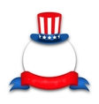 Abstract Background with Uncle Sam Hat for vector image